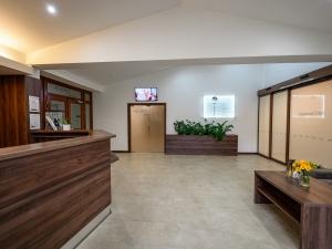 Hotel Vega - hotelová recepce, vstup do wellness, vstup do ubytovací části