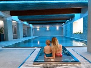 Vnitřní bazén - vstup do bazénu