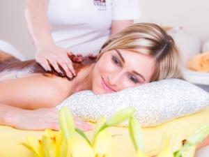 okoládová masáž